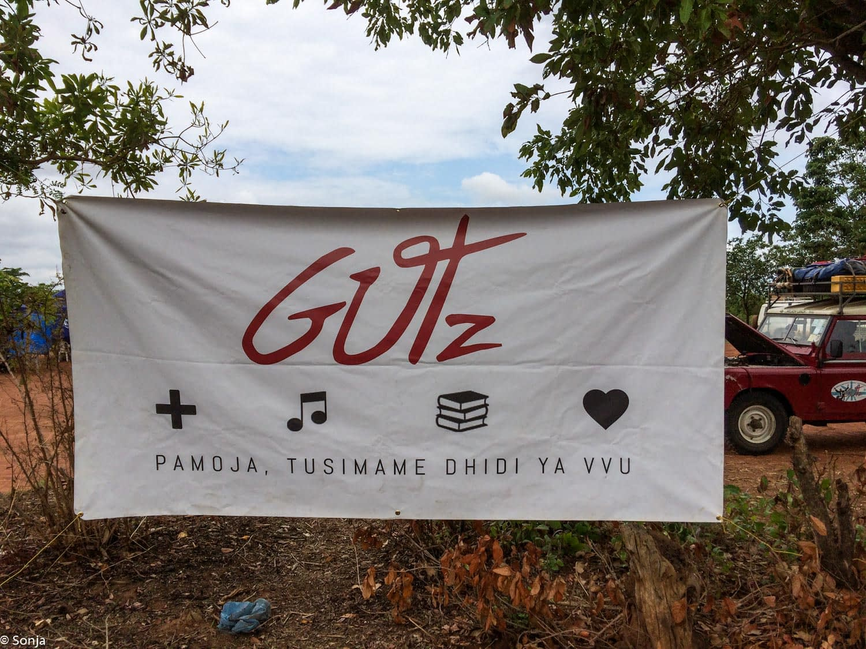 banner, GUTz foundation festival, Kahama, Tanzania